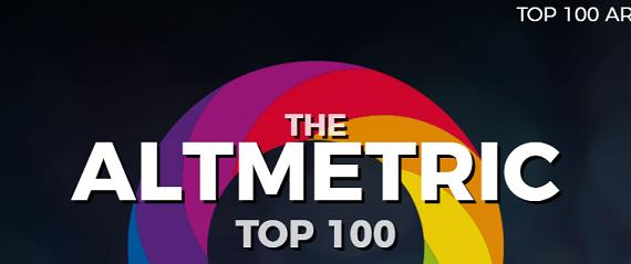 Pantalla inicial Altmetric Top 100