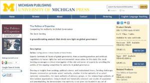 https://www.press.umich.edu/4016693/politics_of_expertise